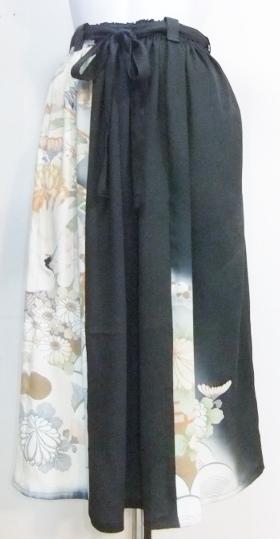 着物リメイク 色留袖で作ったスカート 1340