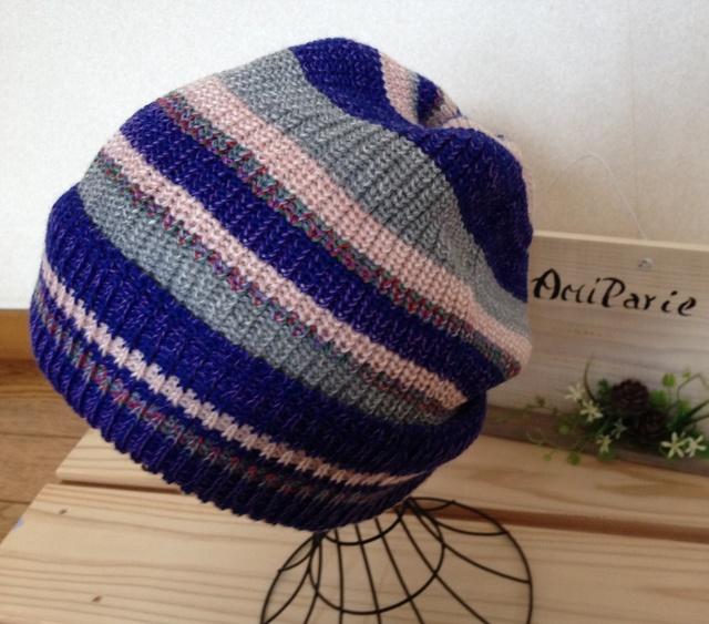 とてもかぶりやすい帽子です ブルーピンク?