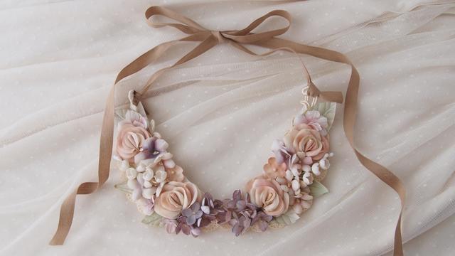 Flower collar ?お花の付け襟:バラ/すずらん/スミレ/ライラック