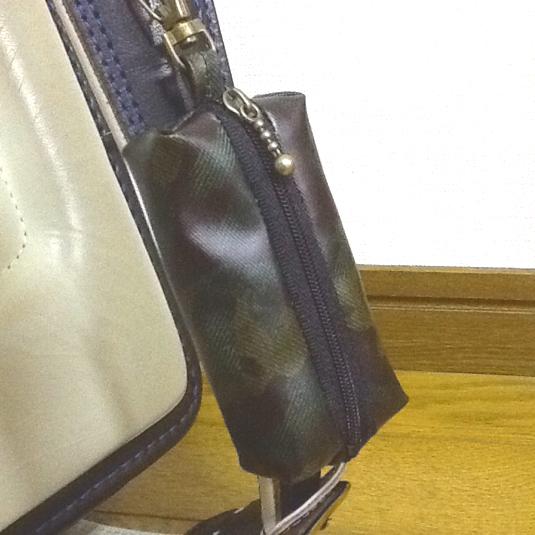 迷彩柄カモフラ ☆リール式 ランドセル用キーケース