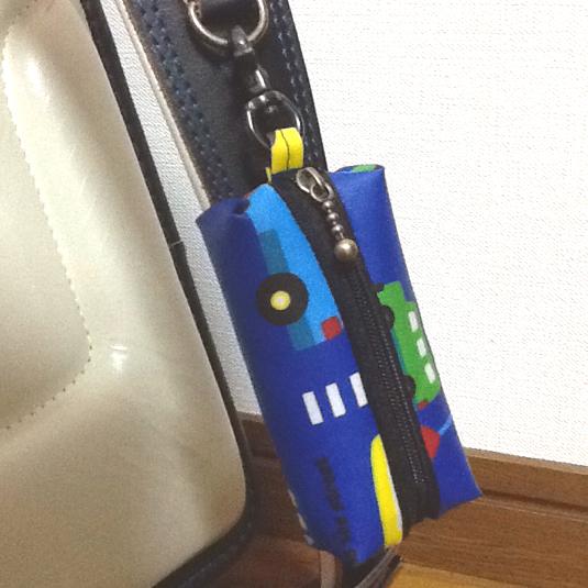 車柄☆リール式 ランドセル用キーケース