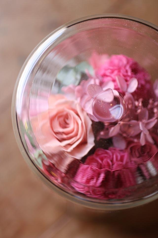 Preserved Arrangement−Pink?glass Ssize