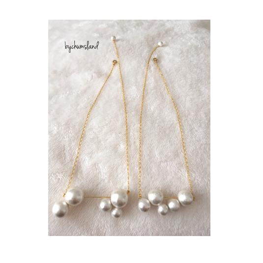 コットンパール ネックレス/CP necklace