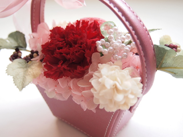 sawa-ya ~ ピンクのフラワーバッグ 母の日に