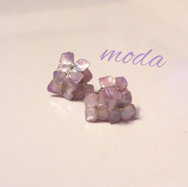 アンティーク紫陽花のイヤリング ピアス