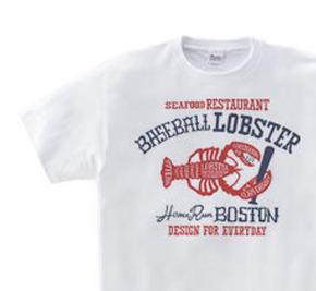 ボストン ベースボールロブスター WM〜WL?S〜XL Tシャツ【受注生産品】