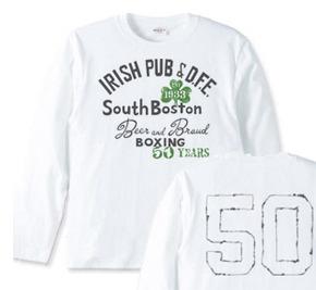 ボストン アイリッシュパブ【両面】 長袖Tシャツ【受注生産品】