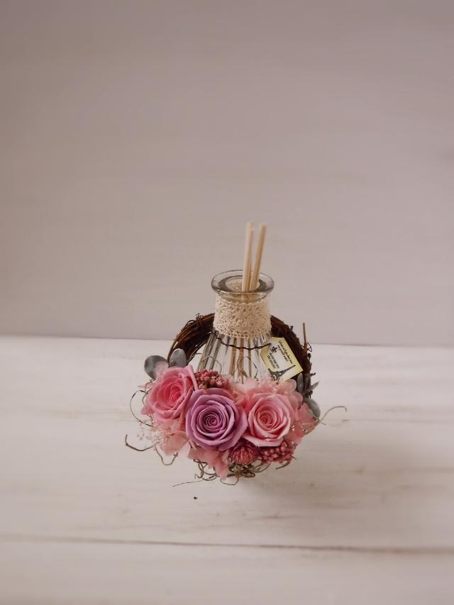 フレグランスボトルリース(ピンク&パープル)