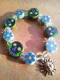 メキシカンの青いお花の お守りブレス