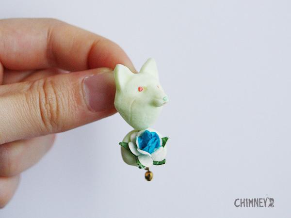 BIG HUG-flowerピアス/イヤリング[fox/5color]