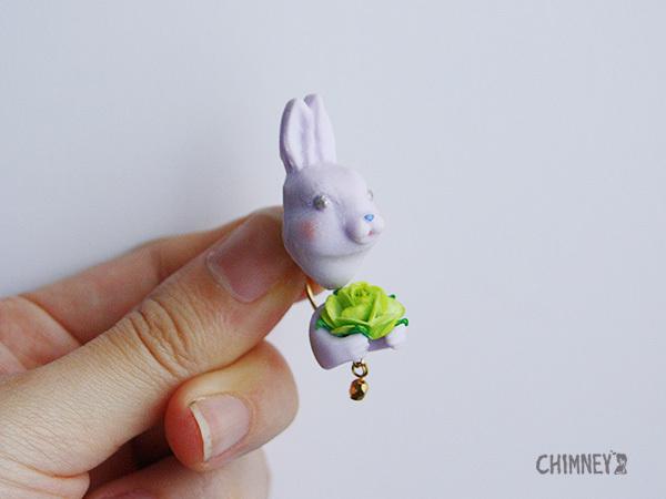 BIG HUG-flowerピアス/イヤリング[rabbit/5color]