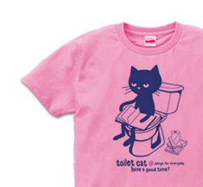 トイレとねこ S〜XL  Tシャツ【受注生産品】