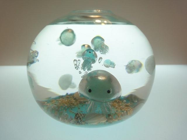 くらげアクアリウム ボール型LLサイズ1個限定 クラゲ蓄光