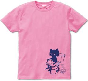 トイレとねこ  XS(女性XS〜S)   Tシャツ【受注生産品】