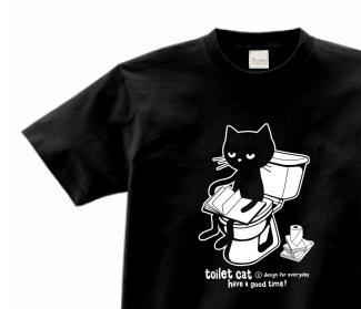 【再販】トイレとねこ 150.160.(女性M.L) S〜XL Tシャツ【受注生産品】