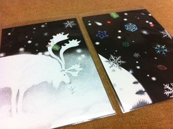 冬の絵葉書 (2枚 set)