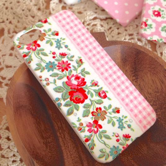 花柄&チェックのiPhoneケース