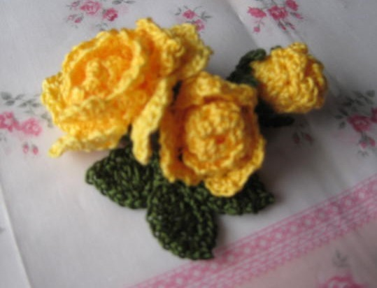 黄色薔薇のコサージュ