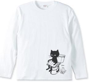 トイレとねこ 長袖Tシャツ【受注生産品】
