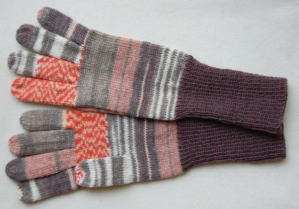 手編み5本指手袋 No.20