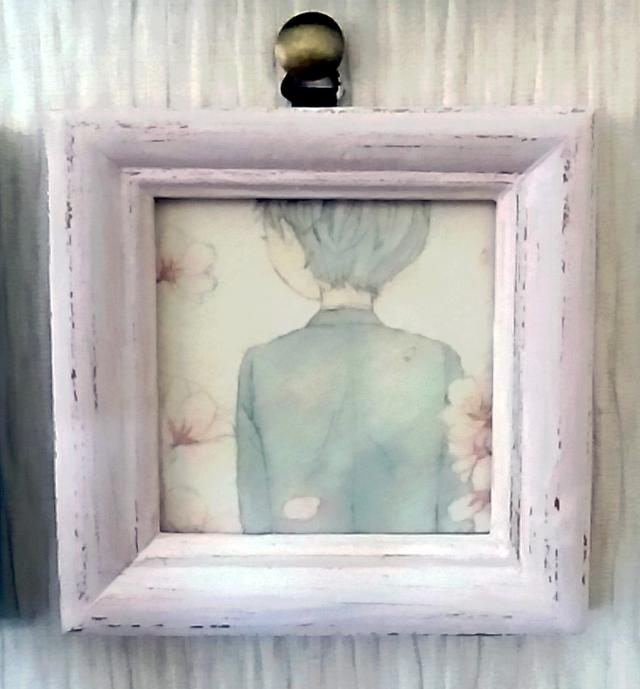 ミニイラスト「春を願うこころ」 (原画)
