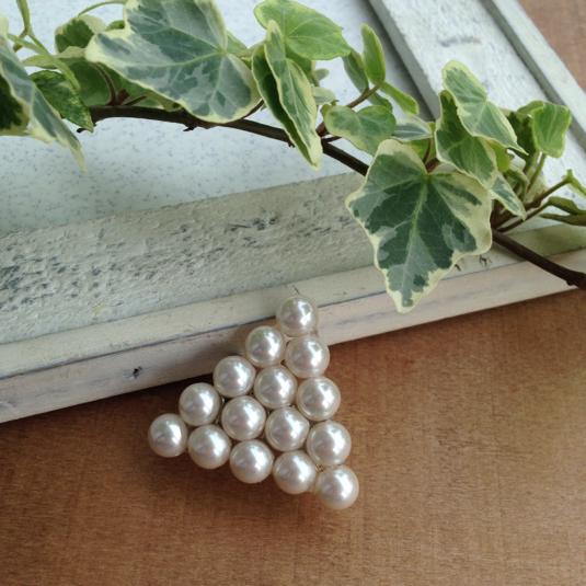 受注生産  帯留め triangle pearl