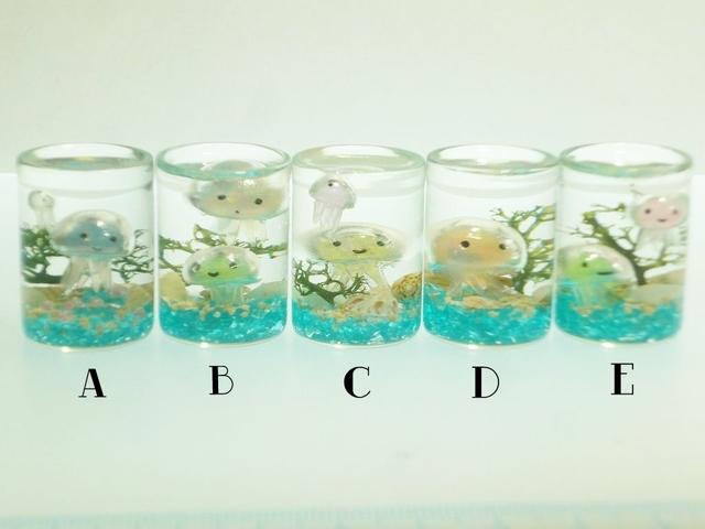 くらげちゃん ぷちアクアリウムSサイズ コルクガラスボトルD