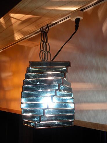 渦巻ランプ 青