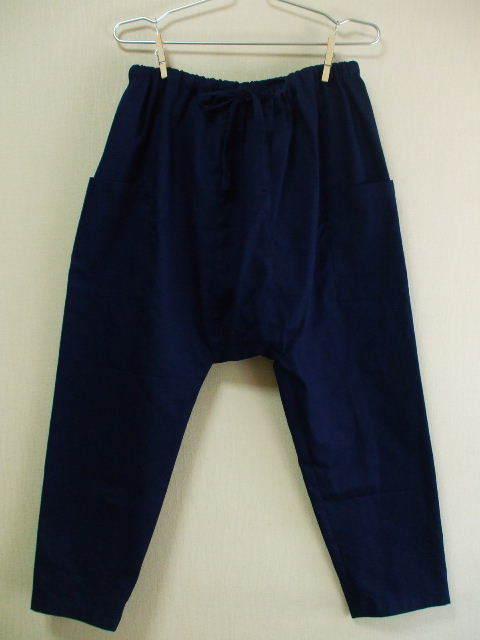 サルエルパンツ 明るい紺 綿100% M〜Lサイズ