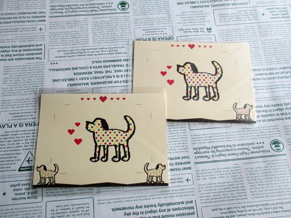 犬写真立て/マーブル(ノベルティパック:100枚)