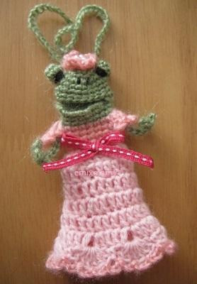 【SALE】あみぐるみ!ケロリップカバー・ピンクドレスのケロリーヌちゃん♪