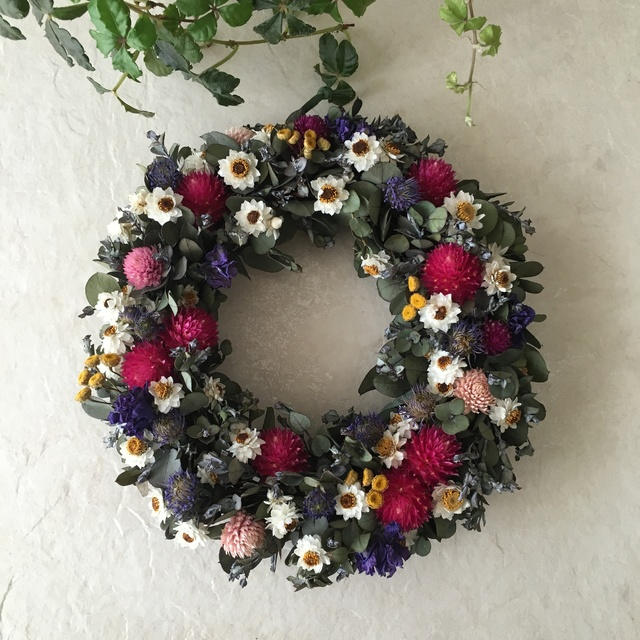 natural wreath   ユーカリ B  01