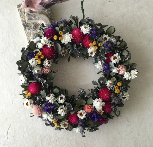 natural wreath   ユーカリ B  02