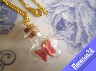 『花形小瓶の妖精』(ピンク)