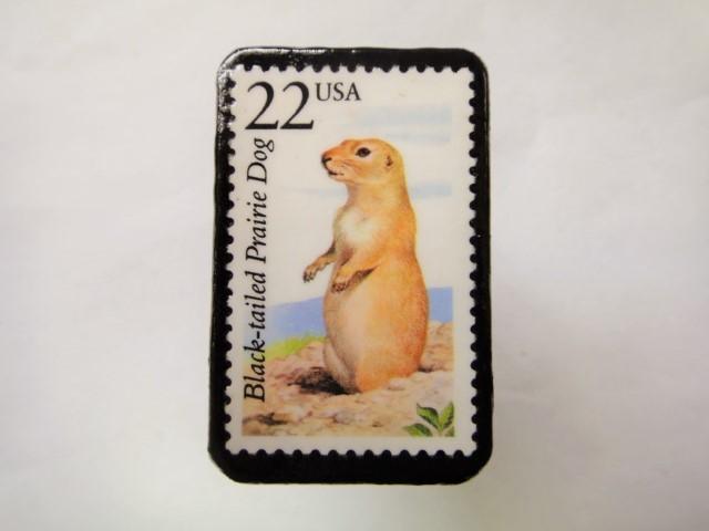 アメリカ 切手ブローチ1069