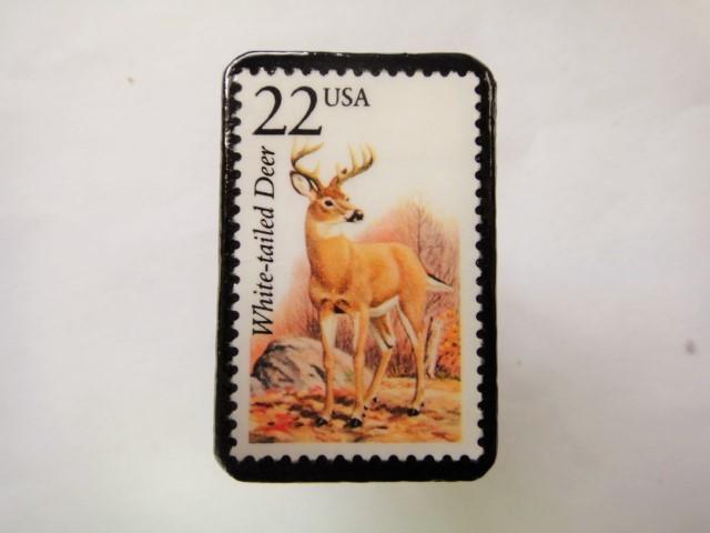 アメリカ 切手ブローチ1075