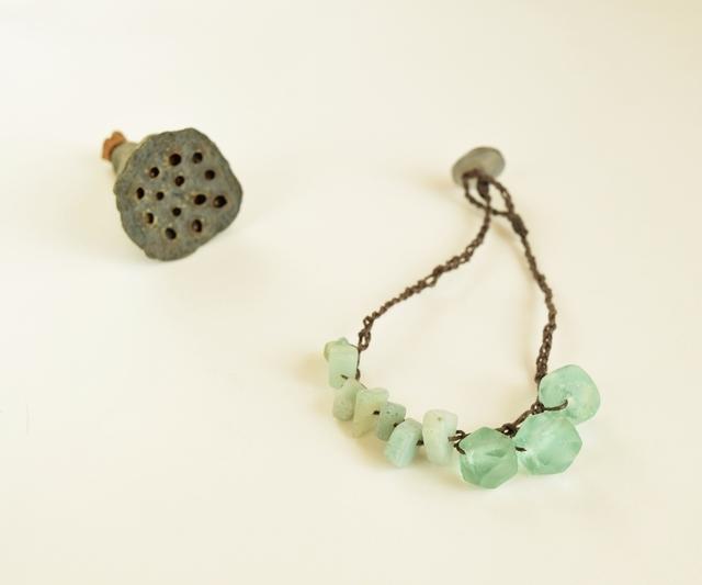 Pale blue bracelet