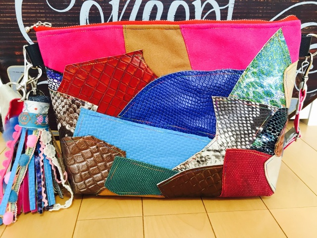Patchwork 2WY bag of Italian leather