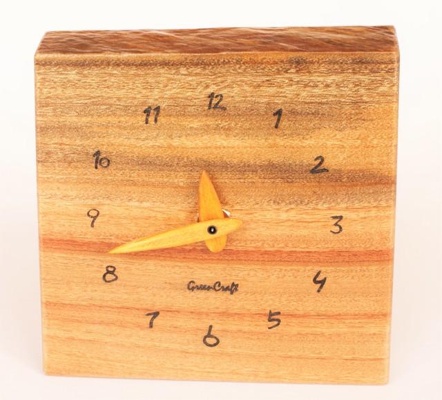 樟の木の壁掛け時計3