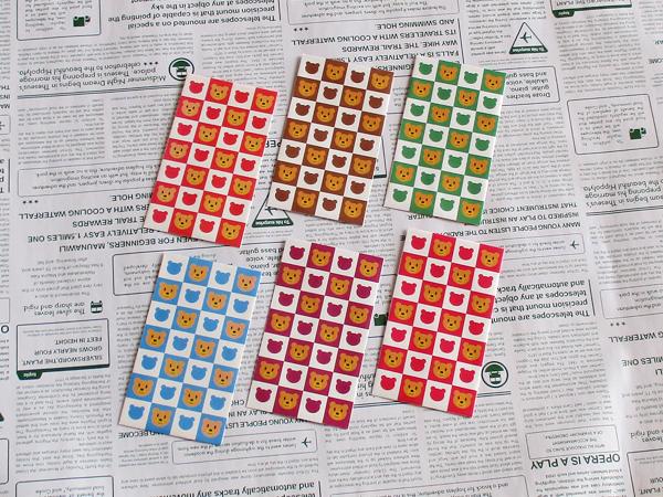 選べるポチ袋10枚(テディベアー01)