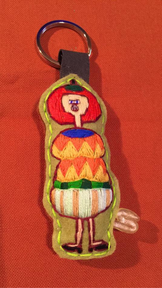 刺繍キーホルダー オレンジ