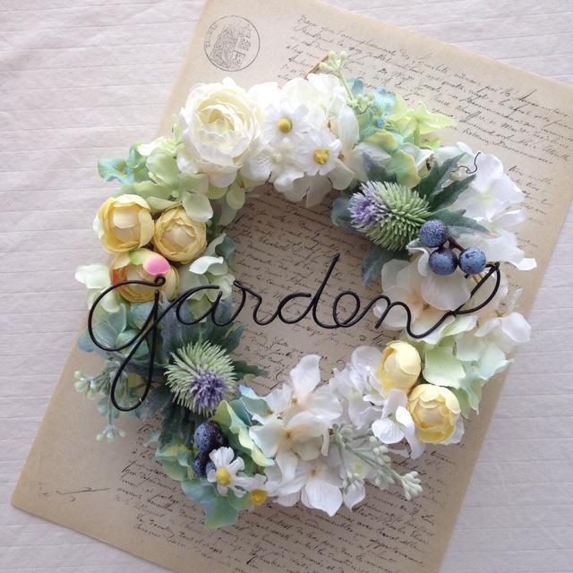 エリンジュームのgarden wreath(アーティフィシャルフラワー)
