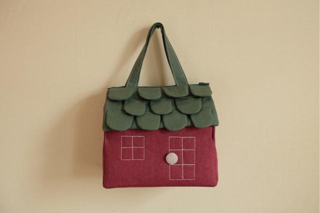 OUCHI box bag M カシス色