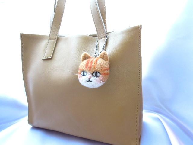 羊毛フェルト トラ猫のバッグチャーム