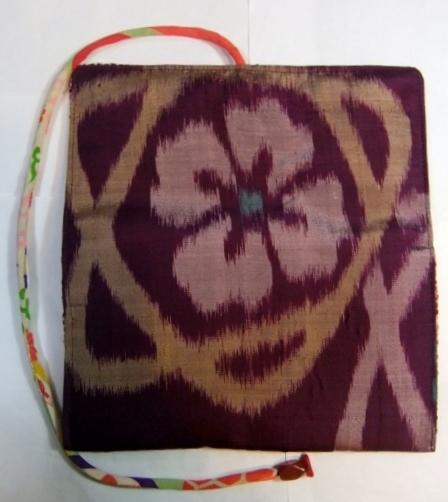 着物リメイク 銘仙の着物で作った和風財布 1368