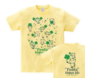 パンダとクローバー【両面】WS〜WM?S〜XL Tシャツ【受注生産品】