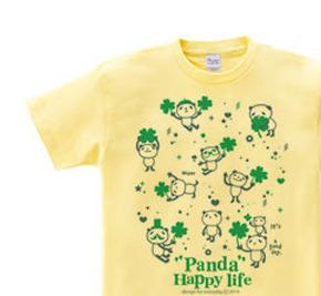 パンダとクローバー【片面】 WM〜WL?S〜XL Tシャツ【受注生産品】