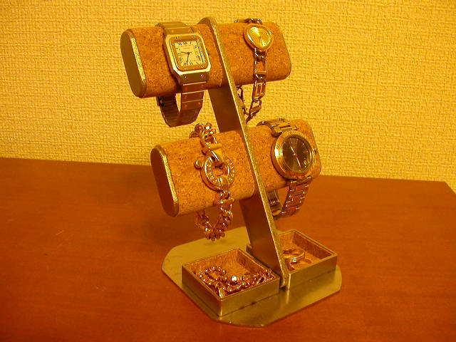 腕時計スタンド 4本収納トレイウォッチスタンド