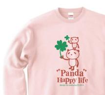 パンダとクローバー【片面】 トレーナー【受注生産品】
