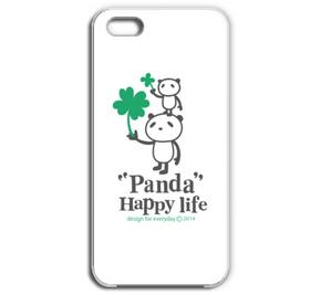 パンダとクローバー  iPhone5/5Sケース【受注生産品】